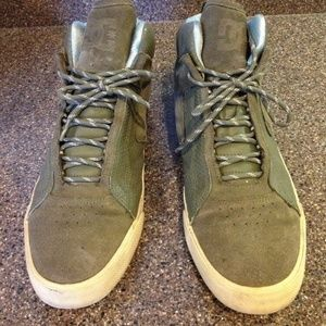 DC Shoes Mid High Leather Skateboard Shoe Green